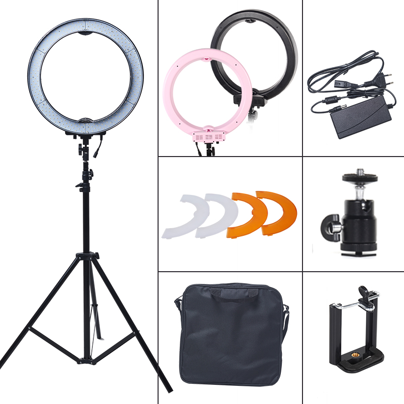 ASHANKS 12'' 40W 5500K Ring Light with Stand 180 LED Photographic Lighting Dimmable Camera Photo/Studio/Phone/Video Lamp