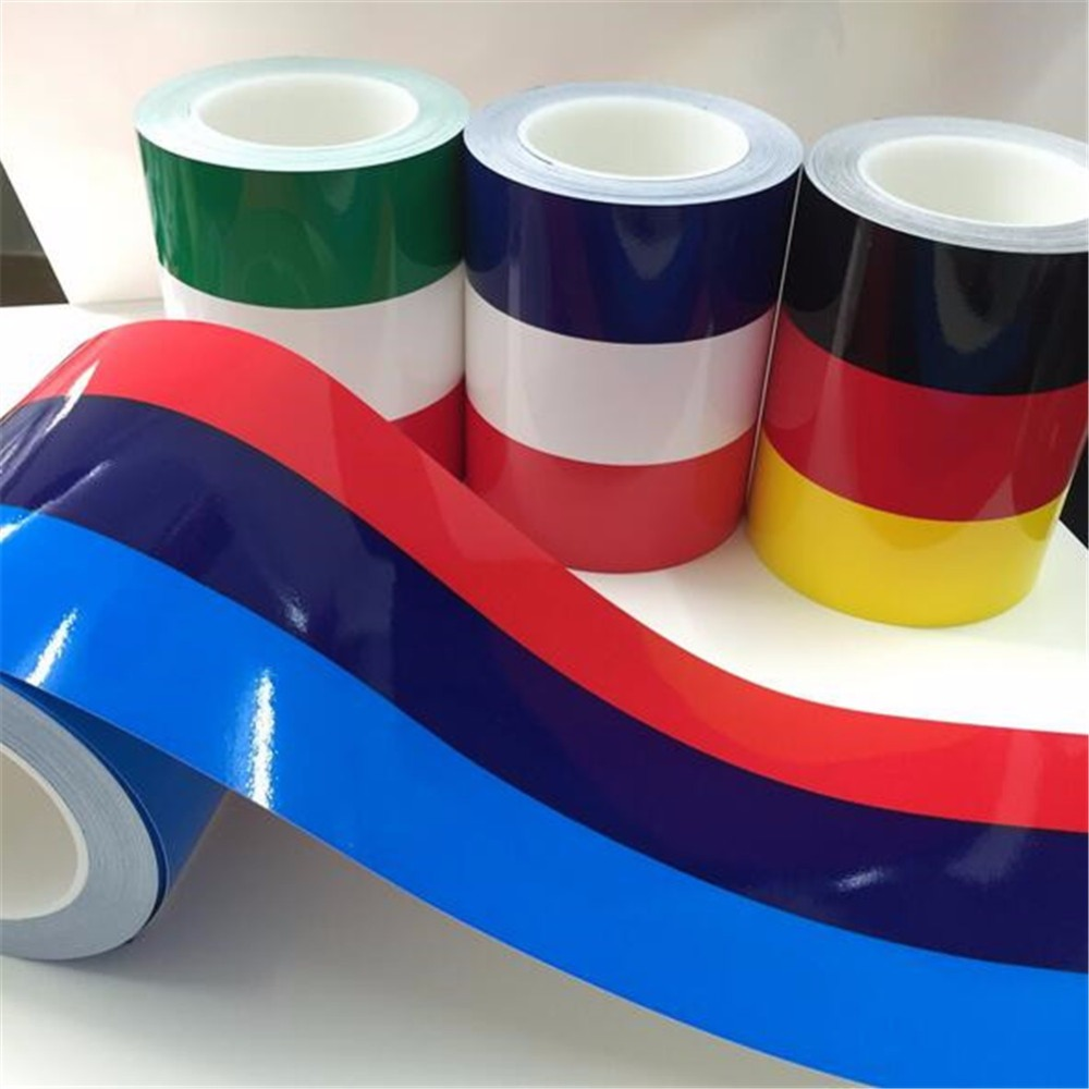 Creative Car Sticker Italian French Germany Flag Three-color Stripe Decal Bumper Sticker Car Decoration Sticker Tape 1M argentina ra for republica argentina in spanish and argentinian flag car bumper sticker decal oval