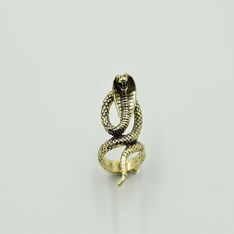 shunyun 1pcs fashion vintage egyptian cobra rings cobra naja animal snake rings for women men greek mythology unisex jewelry - Egyptian Wedding Rings