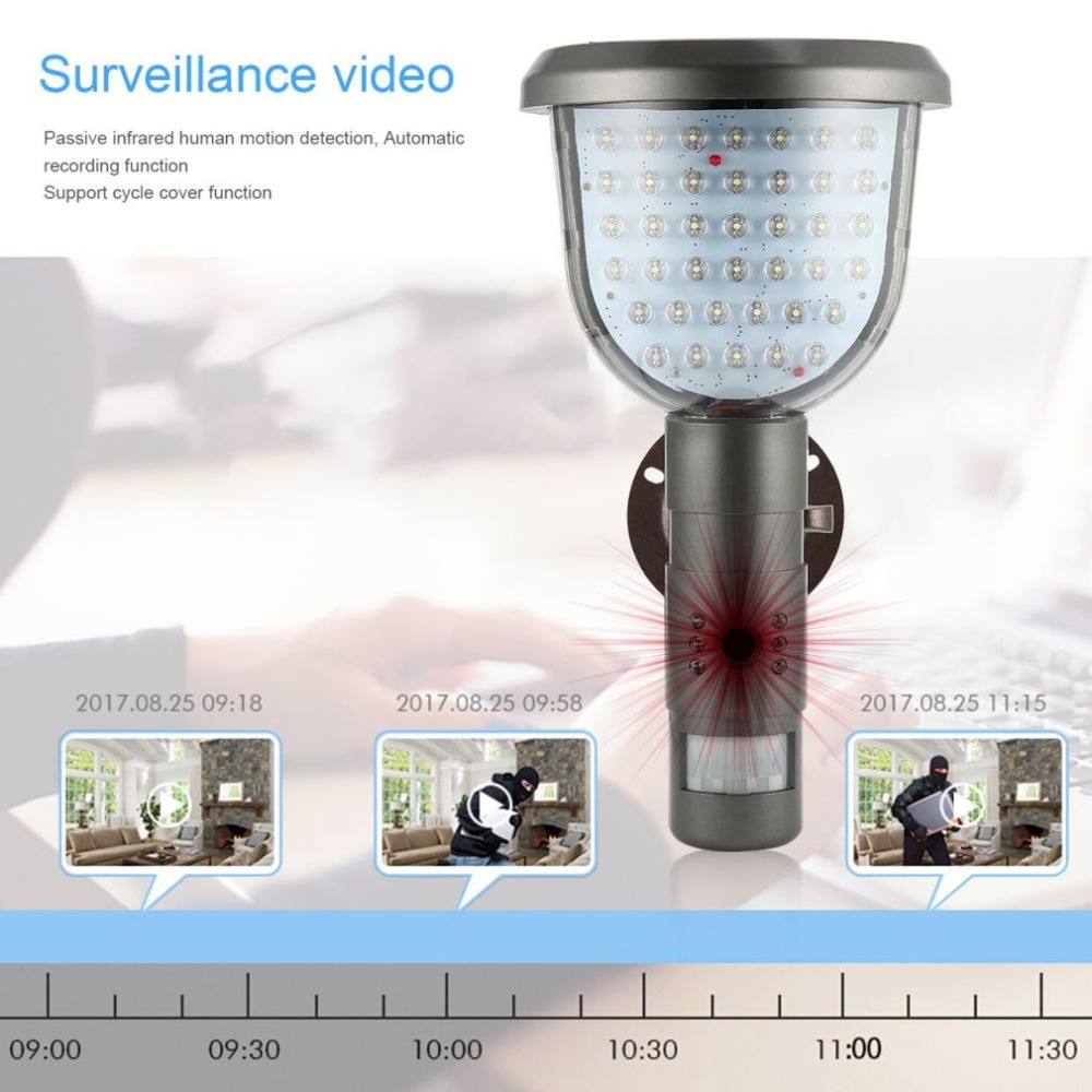 39 IR LED Solaire Lampadaire Projecteur Caméra HD CCTV Caméra de Sécurité DVR Enregistreur PIR Détection de Mouvement De Soutien PC-CAM TF carte