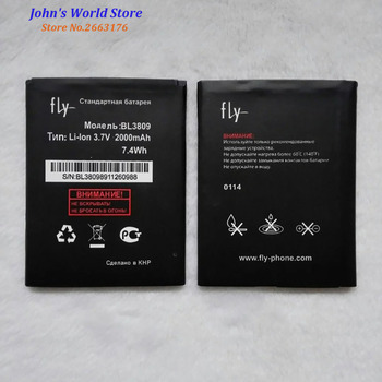 2019 de alta calidad BL3809 batería para Fly IQ458 Quad EVO Tech 2 Li-Ion 2000mAh Bateria de teléfono móvil batería Baterij en Stock