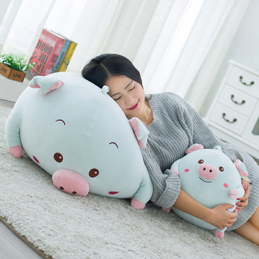 купить 30cm Cute Kawaii Plush Pig Doll Soft Toy Stuffed  Cartoon Animals Toys For Children Dolls Gift Brinquedo Menina Dolls 50T0064 по цене 3234.62 рублей