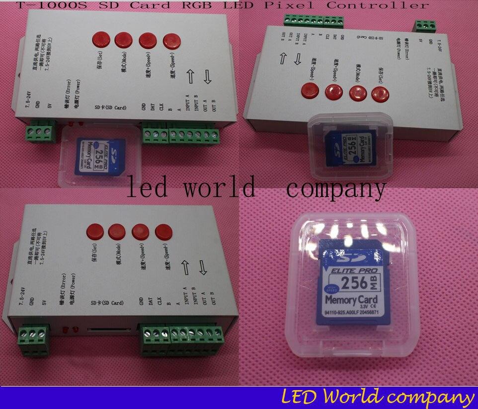 T-1000S 128M SD Karte LED Pixel Controller RGB Stripe Für LPD6803 WS2801 WS2811