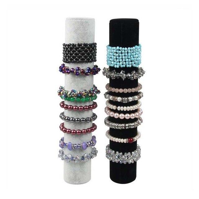 Hot Ing Black Or Gray Velvet Bracelet Display Holder Jewelry Receiving For Bracelets Organizer Shelf