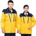 Ropa de trabajo de invierno de manga larga chaqueta wadded algodón acolchado chaqueta de algodón acolchado grueso abrigo chaqueta de servicio de alquiler chaqueta de soldadura