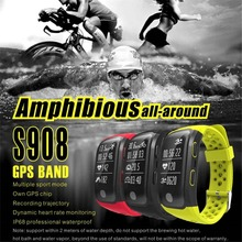 OGEDA 2019 NEW Smart Watch Men s908 Waterproof Swim Bluetooth GPS Fashion Sport Female band Heart Rate Message/Call Reminder