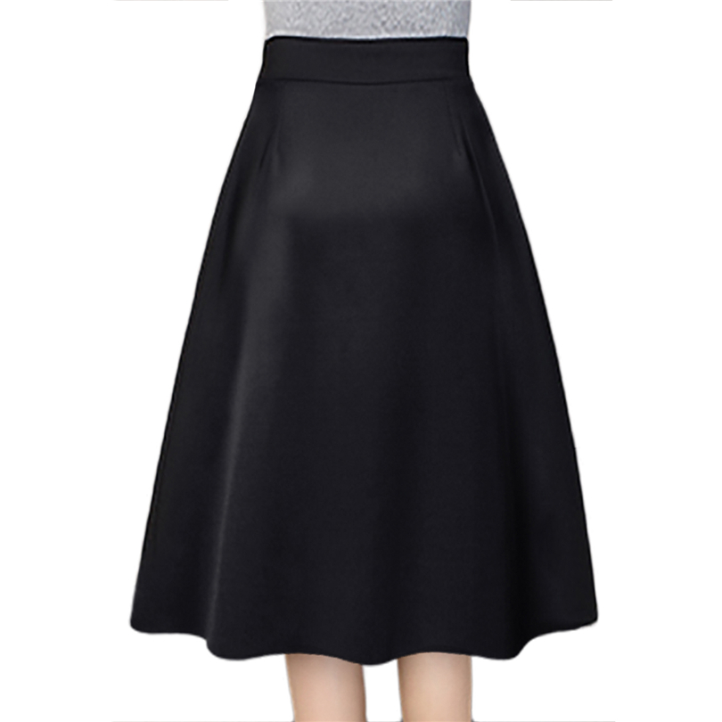 523146a57d Plus Size Skirt High Waisted Skirts Womens Knee Length Bottoms ...