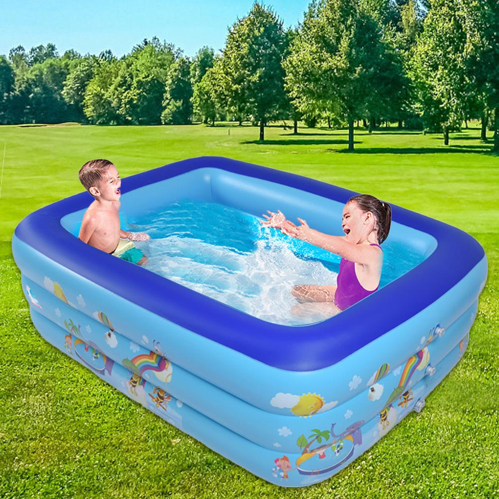 1.3 M trois-anneau bébé gonflable impression piscine PVC jouer piscine de bain Portable en plein air enfants bassin baignoire pour la famille