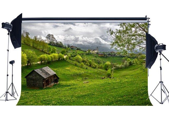 春背景素朴な村ジャングルの森の背景新鮮な花グリーン草草原自然背景