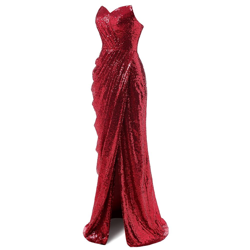 Večernja haljina sa šljokicama Sweetheart Split sirena večernje - Haljina za posebne prigode - Foto 5