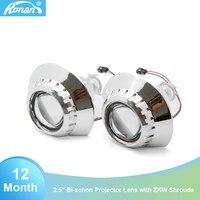 2018 Car Styling 2.5 Bi xenon HID projector lens car headlight bulb for BMW E46 M3 sedan/wagon/coupe Retrofit DIY H7 H4 H1