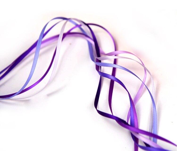 """[Ywuber] 1/1""""(3 мм) дешевая атласная лента для украшения свадебной вечеринки, лента для упаковки подарков 500 ярдов/рулон"""