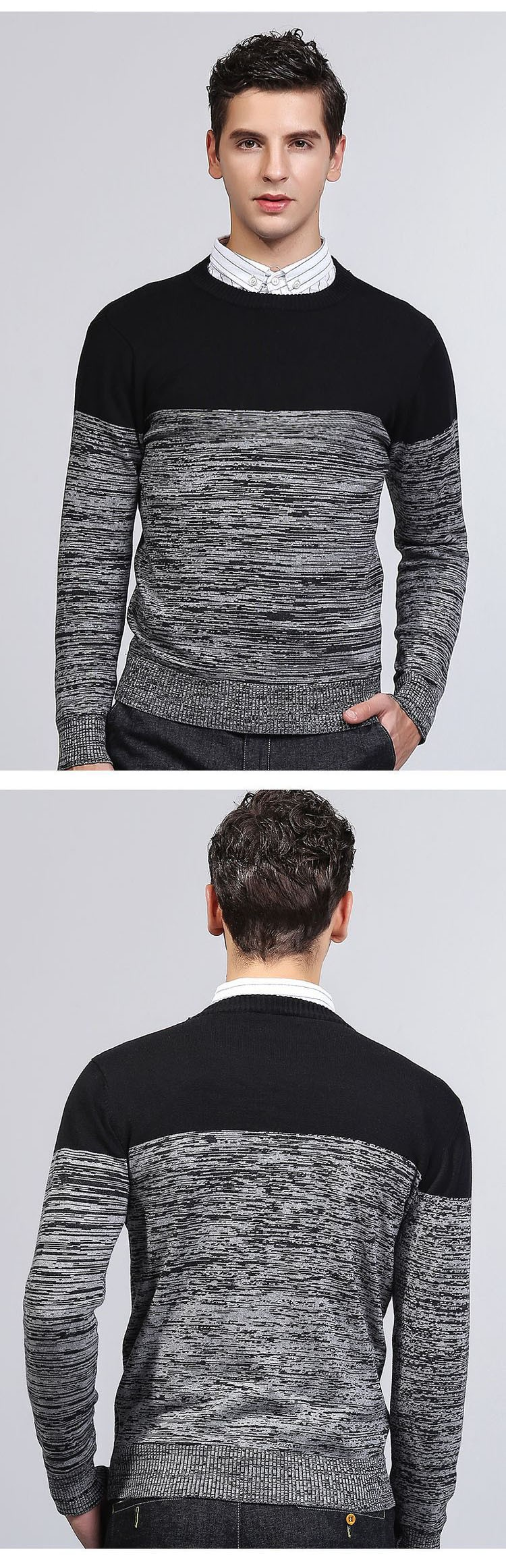 Aolamegs Men Sweater Fashion Hit Color Knitted Pullovers 2017 Spring New Men\'s Classic Casual Slim Fit Knitting Sweter Hombre (4)