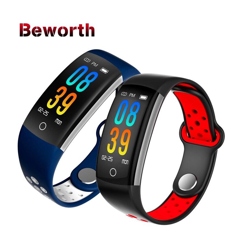 Q6 Smart Band Heart Rate Monitor Blood Pressure Oxygen Fitness Tracker Bracelet IP68 Waterproof Watch Fintess Tracker Wristband цены онлайн