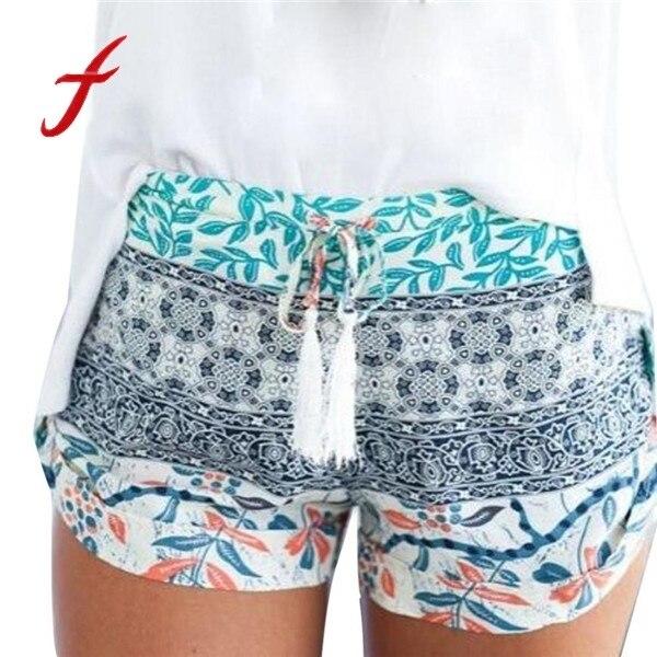 FEITONG 2019 New Fashion   Shorts   Women Sexy Hot Summer printed High Waist   Shorts   Loose Casual   Short   feminino Plus Size XXL
