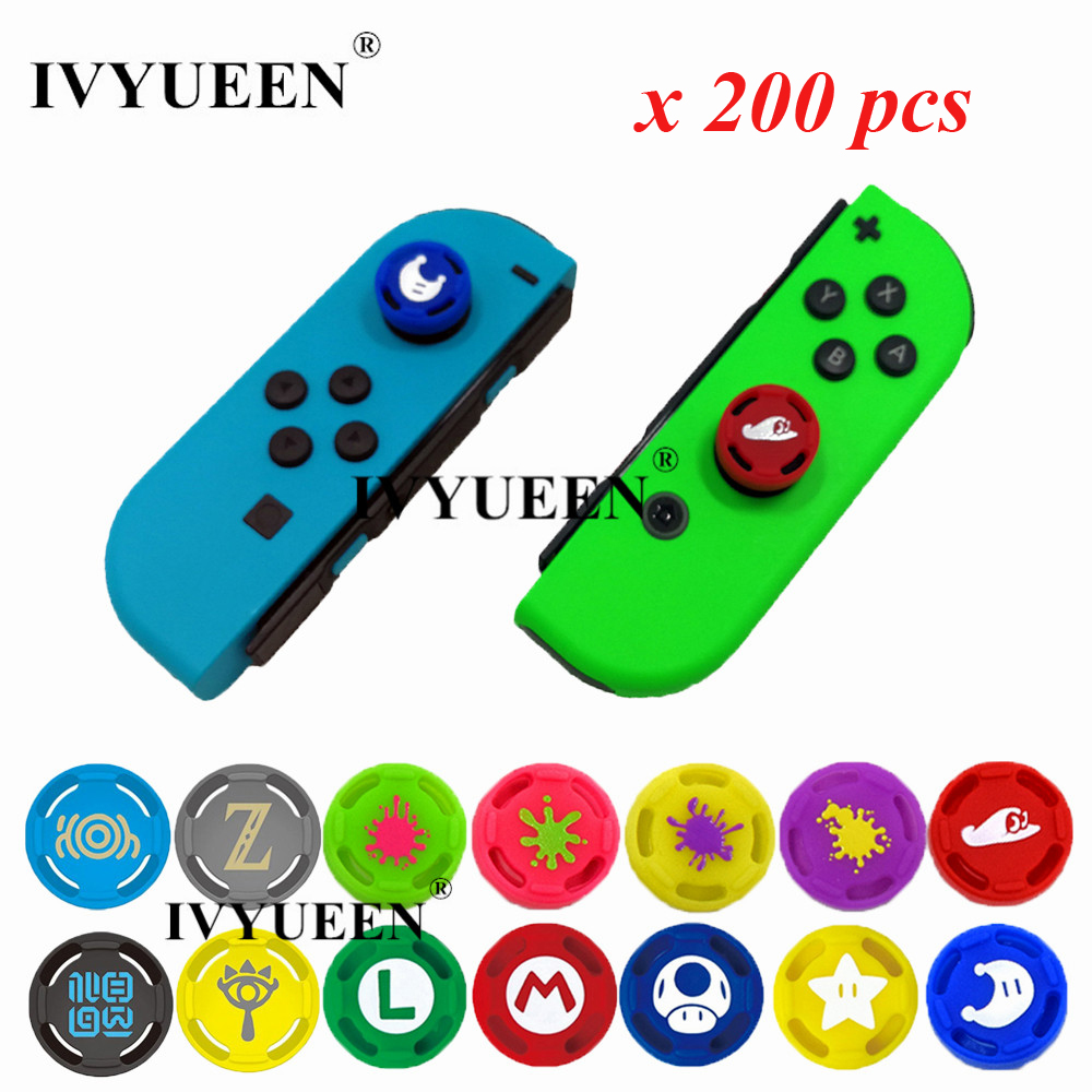 IVYUEEN 200 pcs Joy Con Grip Caps for Nintend Switch NS JoyCon Controller Silicone Analog Thumb