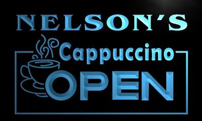 x0251-tm Nelsons Cappuccino Coffee Open Custom Personalized Name Neon Sign Wholesale Dropshipping On/Off Switch 7 Colors DHL