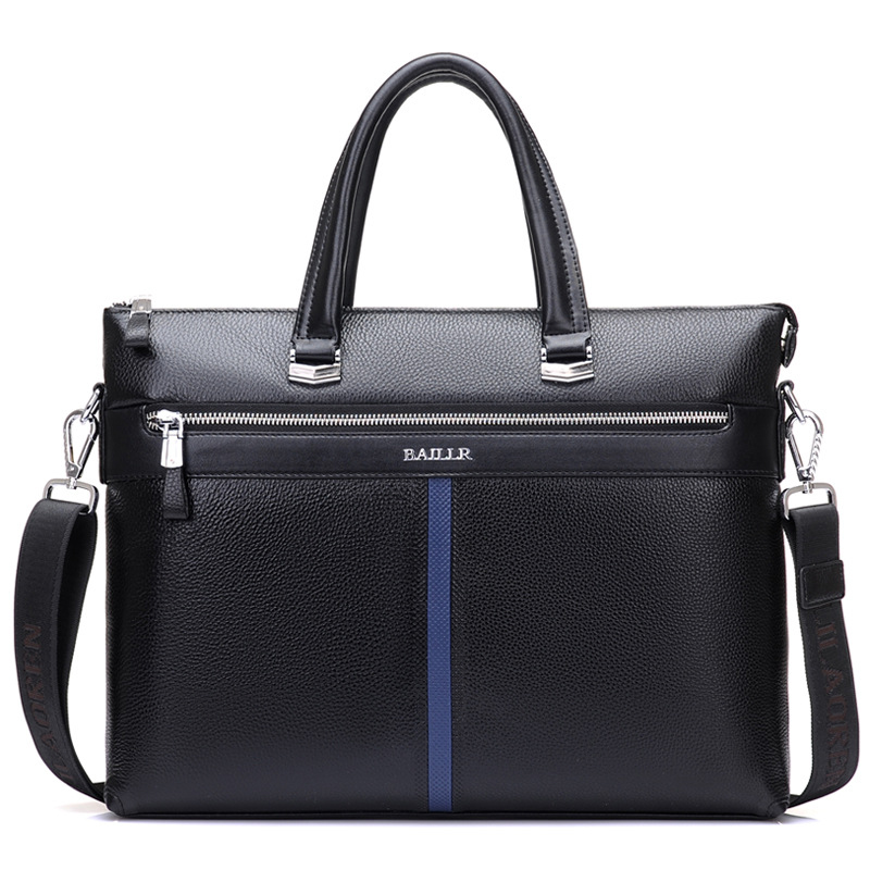 цена на Genuine Leather Men Solid color Briefcase Business Totes Bag 2018 New Travel Handbag High Quality Casual Shoulder Male Bag