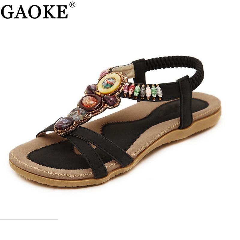 2018 Summer Flat Sandals Ladies Bohemia Beach Flip Flops Shoes Gladiator Women Shoes Sandles platform Zapatos Mujer Sandalias цена и фото