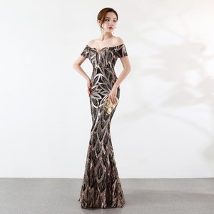 Image 3 - NOBLE WEISS Long Off  Shoulder Evening Dresses Sequined Mermaid Evening Gowns Women Formal Dresses us2 14