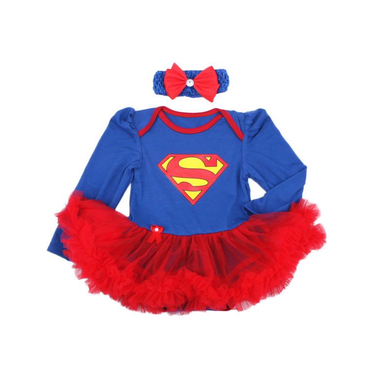 Cute Super Baby Girl Dress Set Pink Lace Romper Headband 2pcs Newborn Tutu Sets Batman Costumes For Kids Outfits Roupas Infantil baby girl 1st birthday outfits short sleeve infant clothing sets lace romper dress headband shoe toddler tutu set baby s clothes