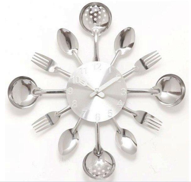 Aliexpress.com : Buy A001 wall clock Knife Fork Spoon Originality ...