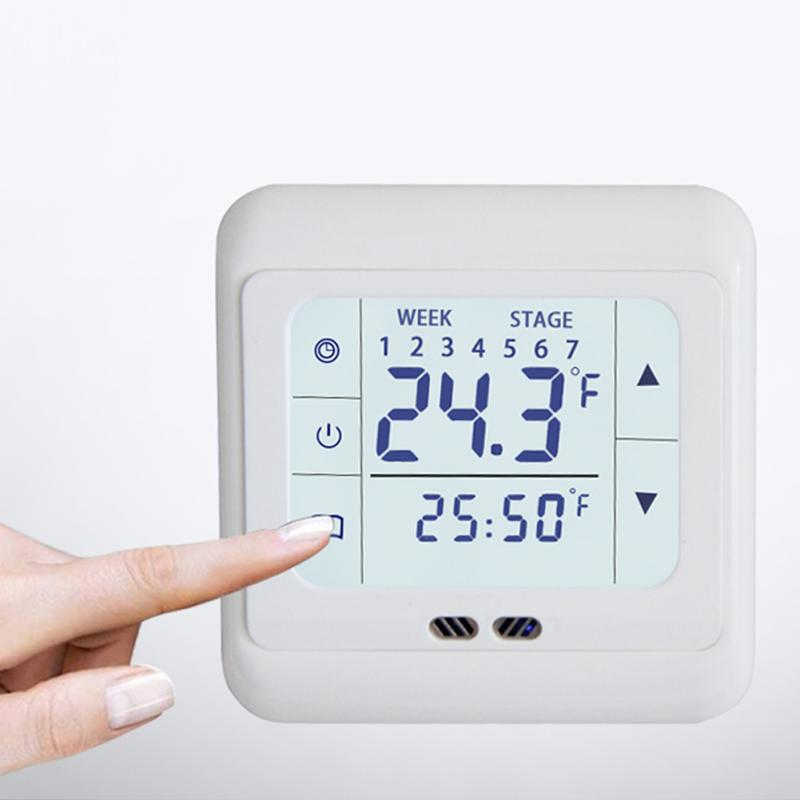 Home Thermoregulator Touch Screen Heating Thermostat for Warm Floor Electric Heating System Temperature Controller Wholesale цена