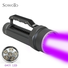 10000lm Tactical Flashlight 6* UV LED Powerful Waterproof Dive Underwater LED Diving Flashlight Torch Lamp Purple Light Lanterna