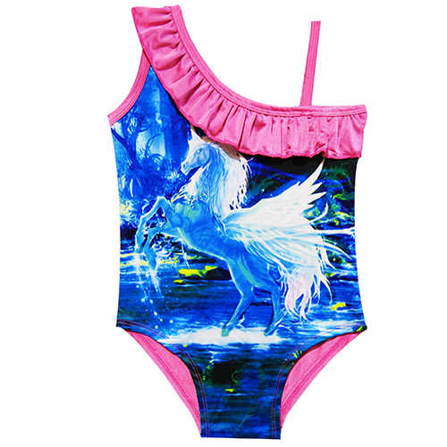 6914bce4a3c ... 2019 Girls Swimwear Lovely Beach Wear Printed Cartoon Swimming Suits One -Piece Unicorn Swimwear Girl ...
