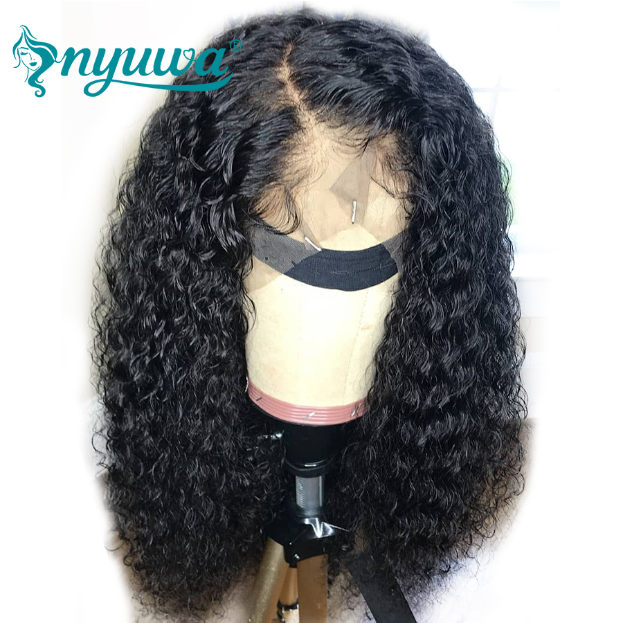 Nyuwa Lace Front Human Hair Wigs With Baby Hair Pre Plucked Brazilian Remy Hair Wigs Curly Lace Front Wigs For Black Women Choice Materials Human Hair Lace Wigs Hair Extensions & Wigs