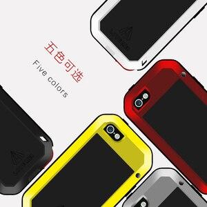 Image 3 - Amore Mei Cassa del Metallo Per il iphone 5 5 S SE Antiurto Copertura Del Telefono Per iPhone5 5 s SE Robusta Armatura corpo pieno Anti Caduta il Caso di iphone SE