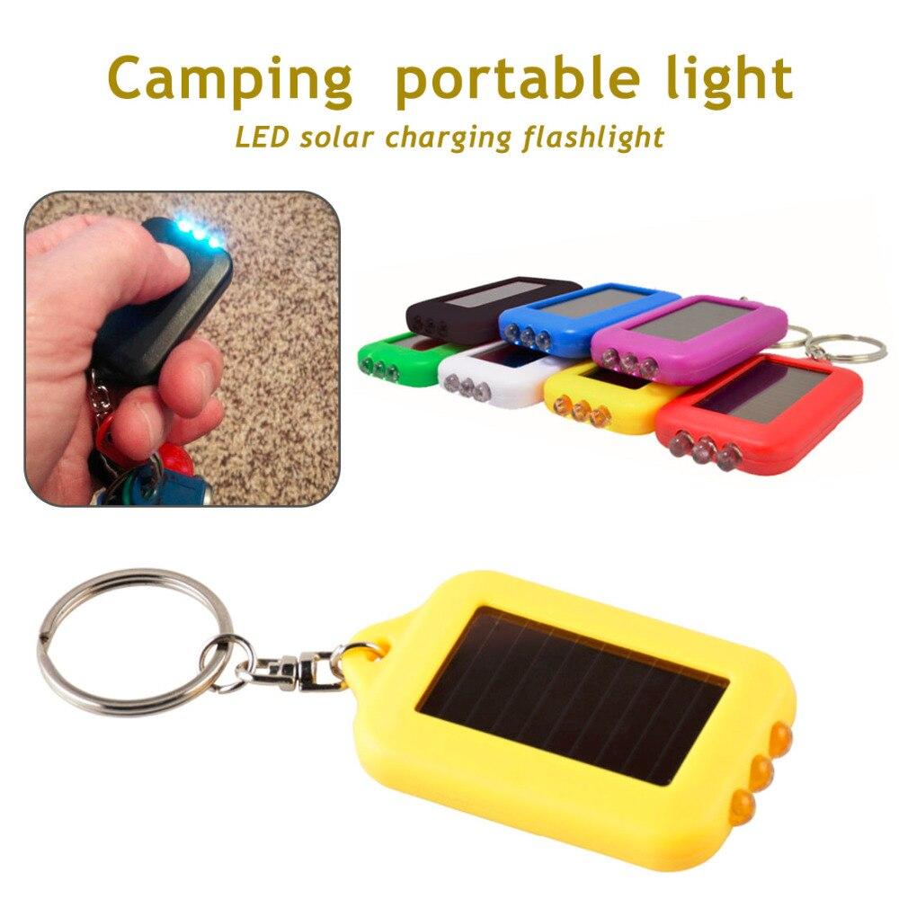 New Portable Super Mini Light LED FlashLight Key Ring Torch 3 LED Keychain Lamp For Gift