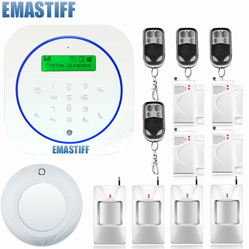 433 MHz Wireless Alarm Clock GSM Digital Alarm System PIR Detector Door Sensor Remote Control Home Burglar Security Sensor Alarm home security door window siren magnetic sensor alarm warning system wireless remote control door detector burglar alarm