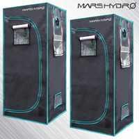 2PCS 1680D MarsHydro Reflective Mylar Hydroponic Grow Tent 70X70X160cm Indoor Growing System,Indoor Garden NO STOCK IN US