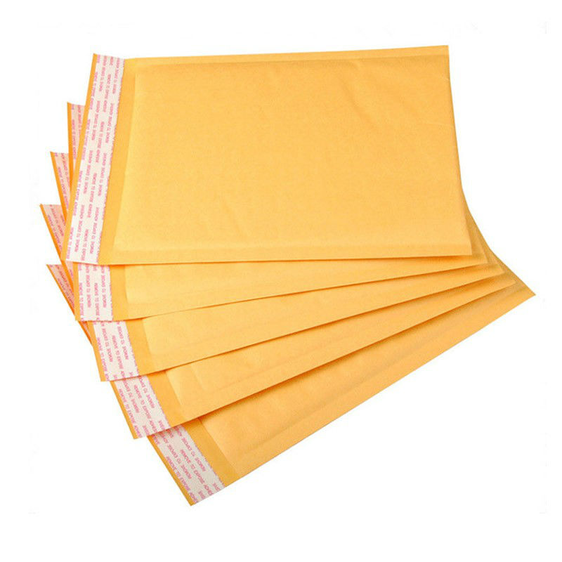все цены на 30pcs 15*20CM Yellow Kraft Paper Foam Fill Envelope Poly Mailer Kraft Paper Bubble Packaging Envelope Mail Bag Thick Bag онлайн