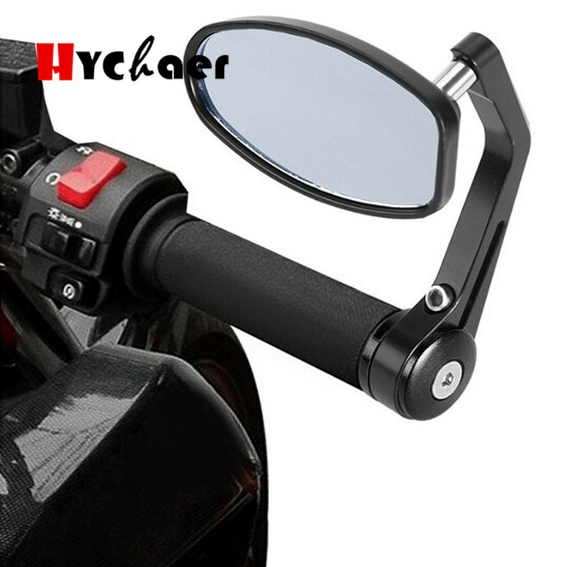 2pcs Moto Motorcycle Motorbike Scooters Aluminum Side Rear View Mirror Motorcycle Bar End Rearview Mirror|Side Mirrors & Accessories| |  - title=