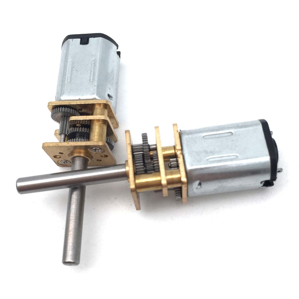 1Pc N20 Electric Micro Gear Motor DC 6V 30100200300 RPM Micro Speed Gear Motor Mini Reduction Gear Motor for Car Robot Model