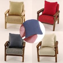 2 шт. 1:12 подушки для дивана, кушетки, миниатюрная мебель, игрушки без дивана