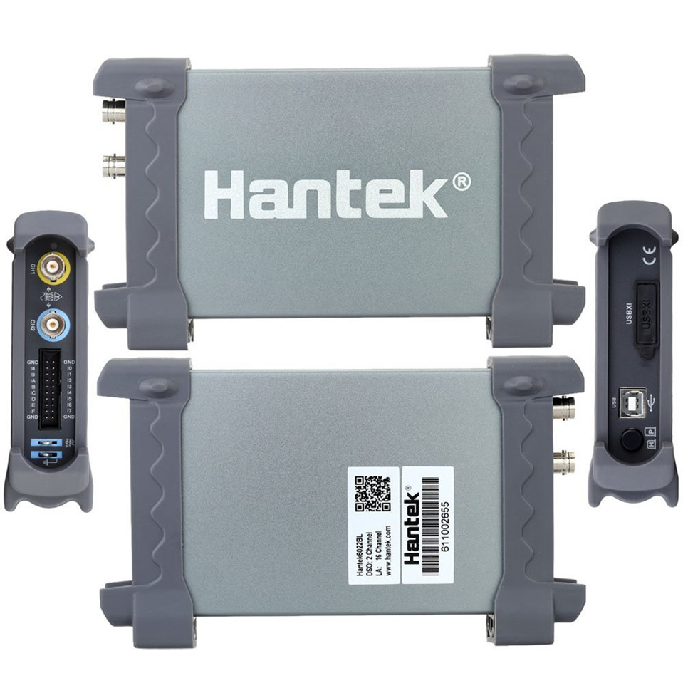 2018 Hantek6022BL Original PC USB Oscilloscope 2 Digital Channels 20MHz Bandwidth 48MSa/s Sample Rate 16 Channels hantek pc usb oscilloscope 6022bl 2 digital channels 20mhz bandwidth 48msa s sample rate 16 channels logic analyzer