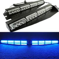 32 LED 12V Car Police Emergency Traffic Advisor Strobe Blue LED Lights Bar Handy