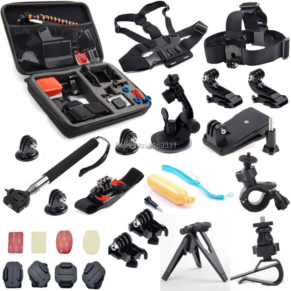For Go Pro Accessories Kit Winter Skiing Outdoor Sports ...  Gopro