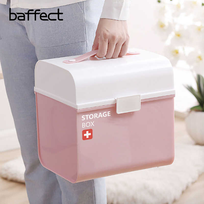 Oversized Medicine Box Thick Multi-Layer Medical Kit Child First Aid Kit Family Medicine Storage Box Storage Box
