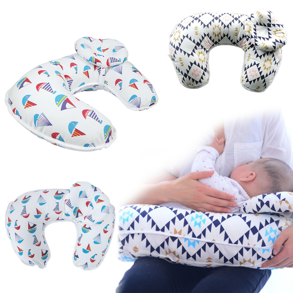 цена на Multi-functional Baby Pillow Pure Cotton Baby Care Feeding Breastfeeding Nursing Pillow Cover Slip for Pregnant Mothers