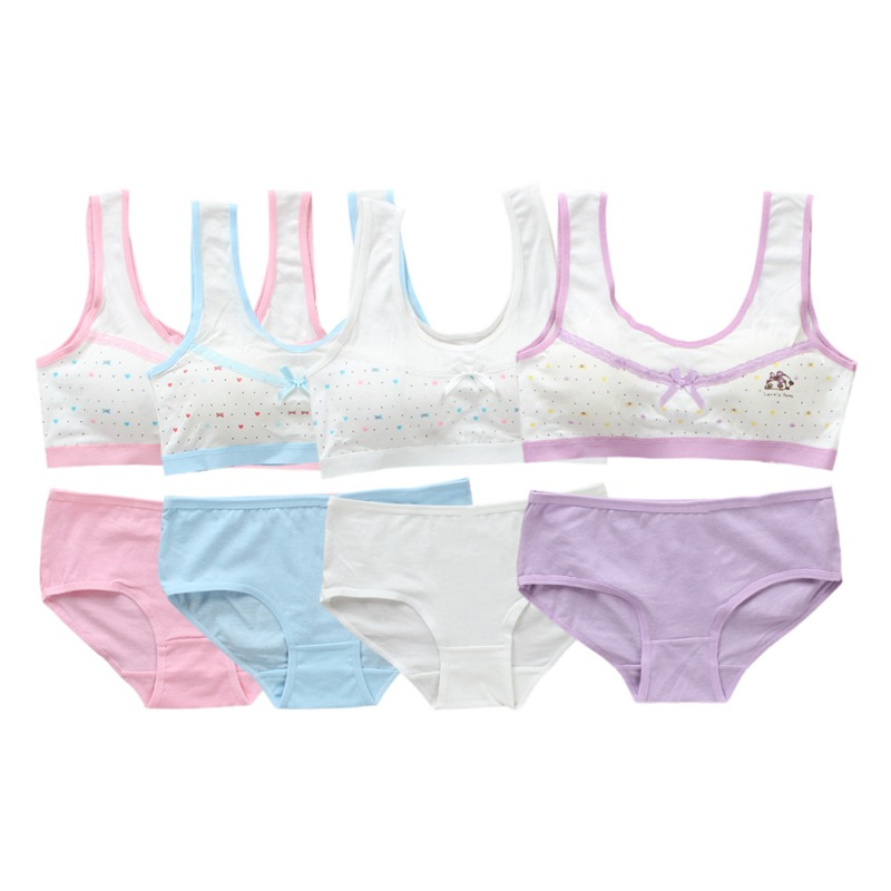 Young Girls Underwear Set Teenage Clothes Sets Teenager Sport Underwear Training Bra For Girls Teen Bra And Panties Sets