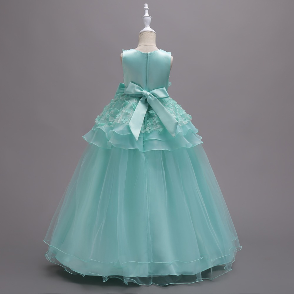 Princess Birthday Party Dresses Purple Mint Flower Girl Dressses ...