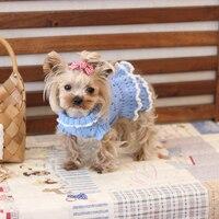 Cao end Handmade Dệt Kim Dresses Quần Áo cho Chó Sản Phẩm cho Mèo Pet Dresses Maltese Chihuahua Yorkie Mùa Xuân Mùa Thu
