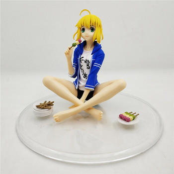 Saber Fate Stay Night Figure Action Altria Pendragon Arturia and Altria Kimono Ver. with Lighting Base Collectible Model Toy