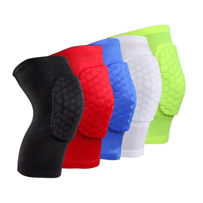 babfec94a1 Honeycomb Sport Knee Pads Crashproof High Elastic Basketball Knee Support Compression  knee Brace Kneeling