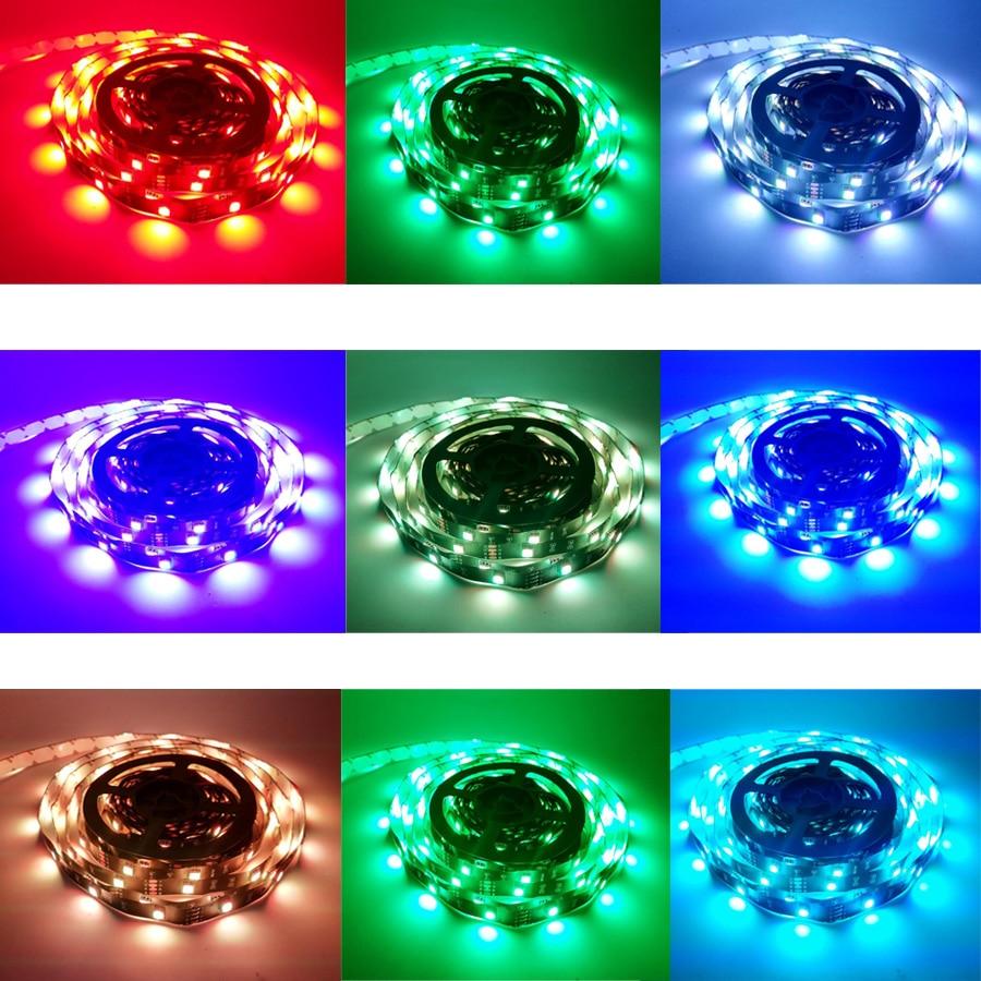 HTB17CLugKuSBuNjSsziq6zq8pXa8 10M WiFi LED Strip Light RGB Tape Diode Neon Ribbon tira fita 12V SMD5050 5M Flexible Light String With WiFI Controller adapter