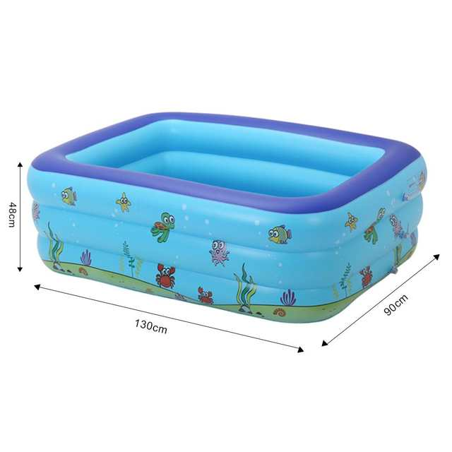 US $36.49 27% OFF|Portable Pools for Kids Inflatable Bathtub Baby  Rectangular Swimming Pool Blow Up Kid Pools Hard Plastic Water Toys for  Outdoor-in ...